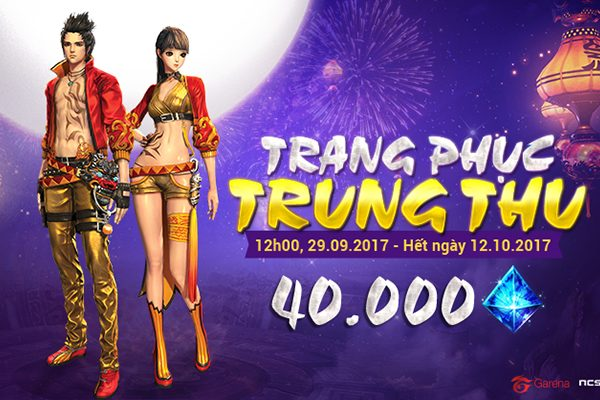 Mở bán các trang phục Trung thu từ 12h00 ngày 29.09