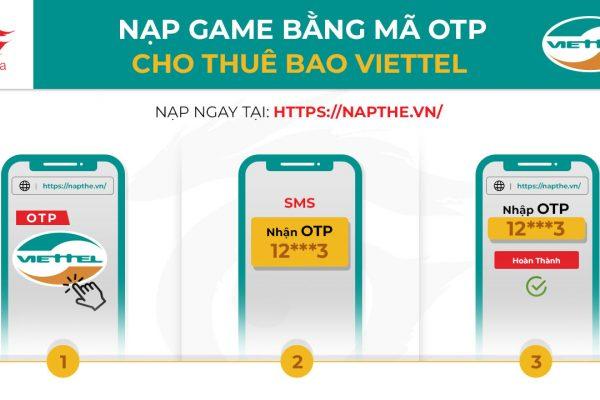 Nạp Tiền Game qua Thuê Bao Viettel (Viettel OTP)